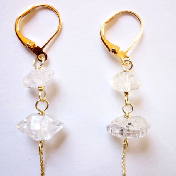 Stone Chain Earrings