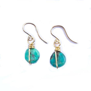 African Turquoise Handmade Earrings
