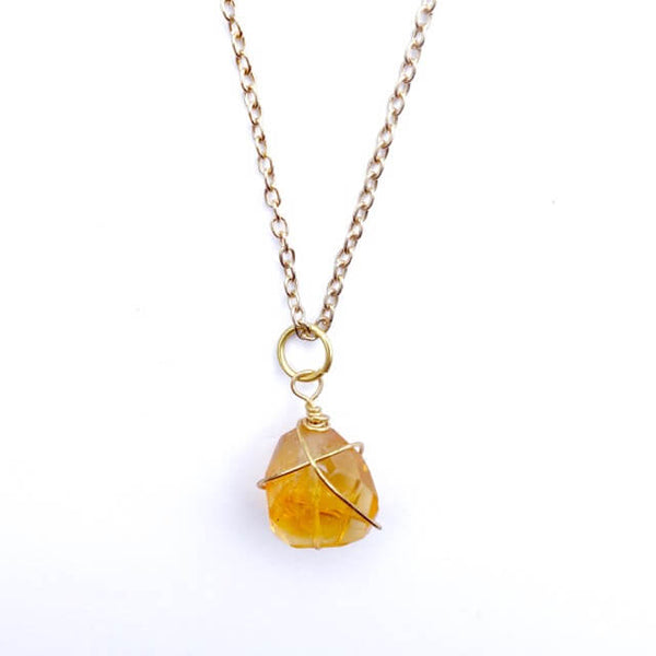 Citrine Wrapped Necklace