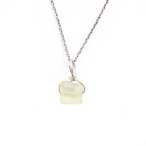 Faceted Chalcedony Necklace
