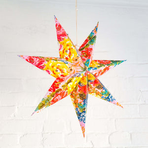 Recycled Cotton Paper Star Lantern