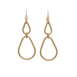 Fair Trade Double Teardrop Hoop Earrings