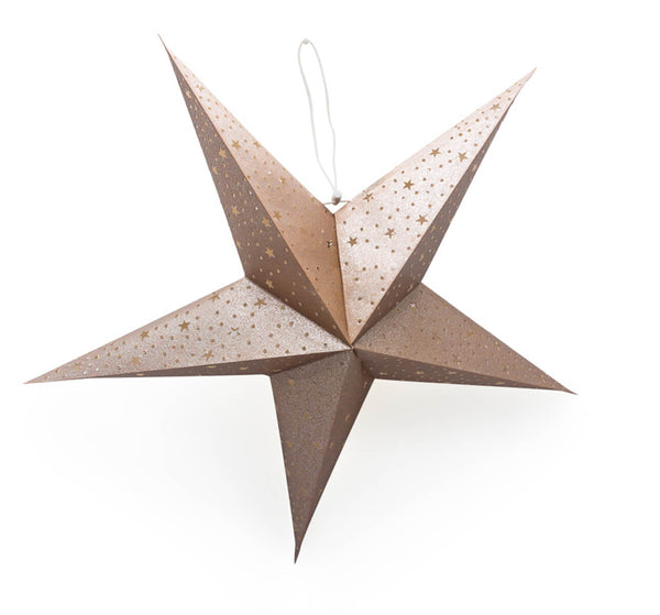 Certified Fair Trade Recycled Cotton Paper Hanging Star Lantern
