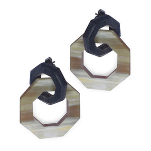 Fair Trade Saigon Geometric Horn Earrings