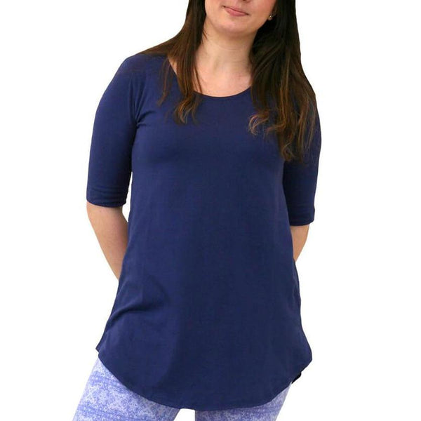 Maggie's Organics Elbow Sleeve Swing Tunic