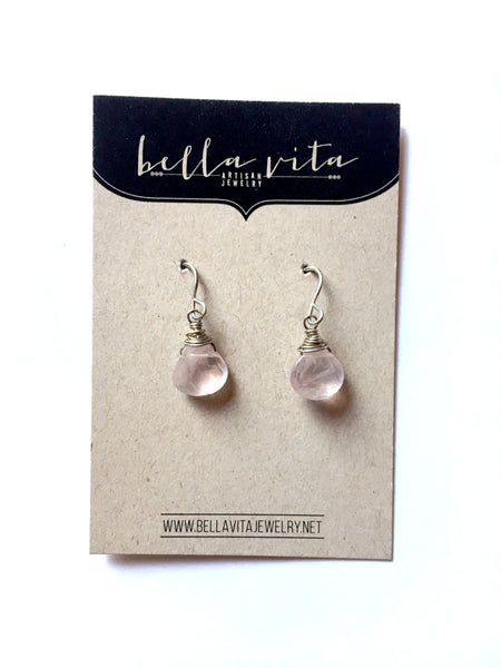 Simple Faceted Stone Earrings