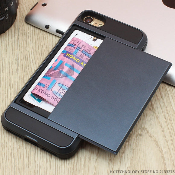 Armor iPhone Case with Credit Card Holder