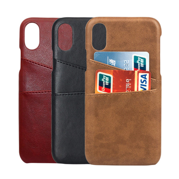Leather Case for iPhone 7/8/X + Card Holder