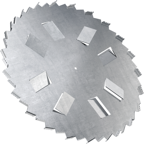 10 inch high flow dispersion blade with 5/8 inch bore