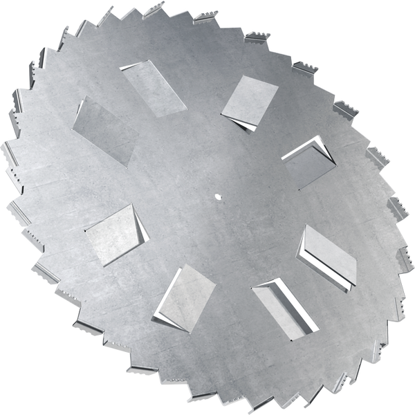 12 inch high flow dispersion blade with 5/8 bore