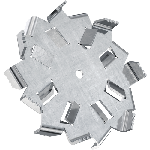 8 inch high flow dispersion blade with 3/8 inch bore
