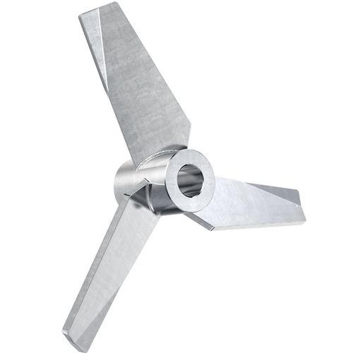 4.5 inch hydrofoil impeller with 1/2 inch bore