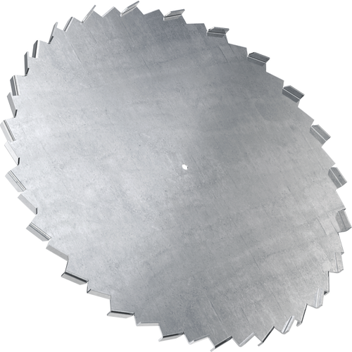 36 inch dispersion blade with 5/8 inch bore