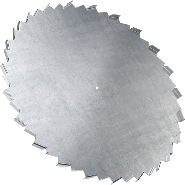 34 inch dispersion blade with 5/8 inch bore