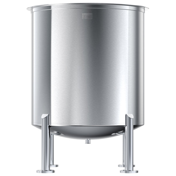 Stainless Steel Tank, 60 Gals, High Polish Finish, Dish Bottom