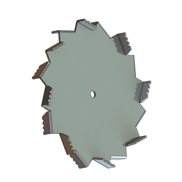 High Shear Mixing Dispersion Blade, 2in Dia, 1/4in CH