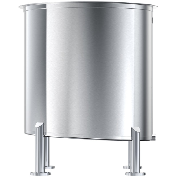 Stainless Steel Tank, 100 Gals, High Polish Finish, Slope Bottom