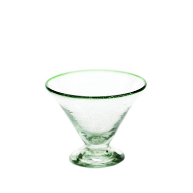 Green Rim Margarita Glass