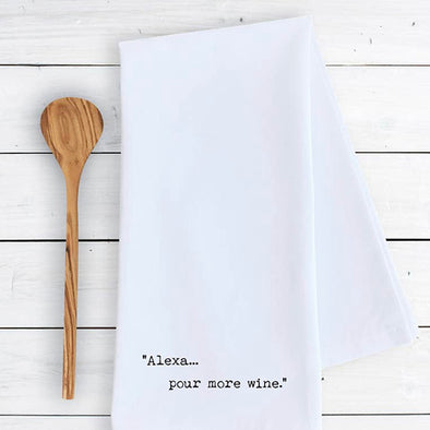 Alexa...Wine Tea Towel