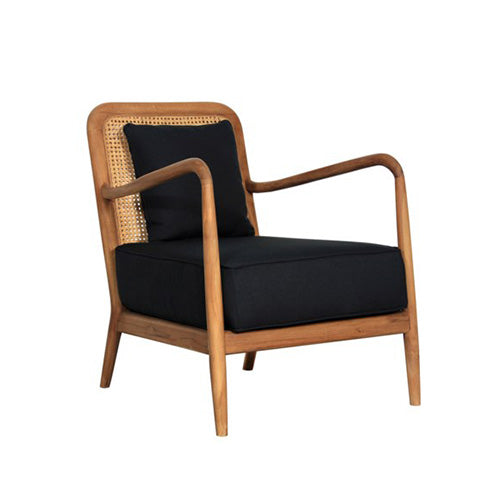 Teak and Rattan Occasional Chair