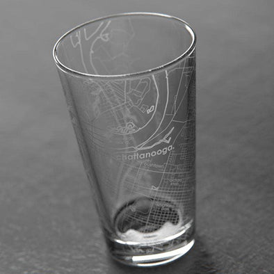 Chattanooga Map Pint Glass