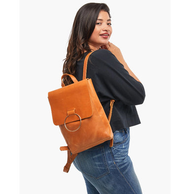 Fozi Backpack in Cognac
