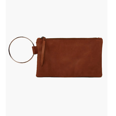 Fozi Wristlet in Whiskey