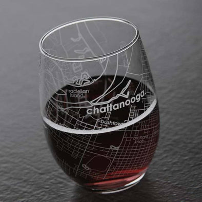 Chattanooga Stemless Wine Glass