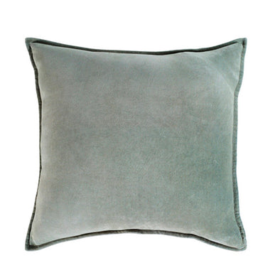 Sea Foam Velvet Throw Pillow