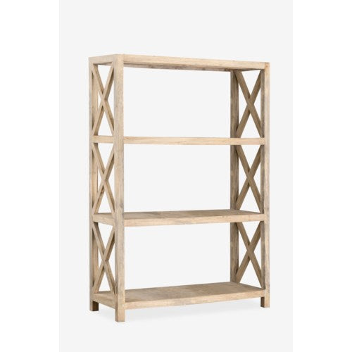 Promenade Bookshelf with X design