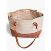 Rachel Zip Tote in Bone and Whiskey