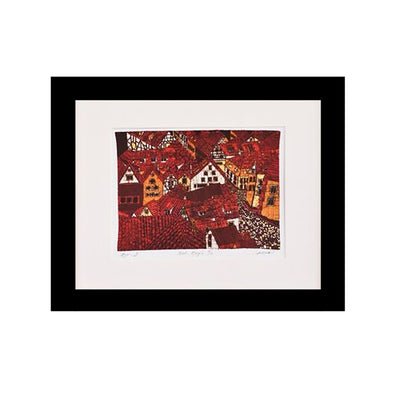 Red Roofs Art Print