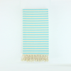 Turquoise Striped Turkish Towel