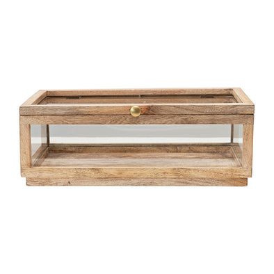 Wood + Glass Display Box