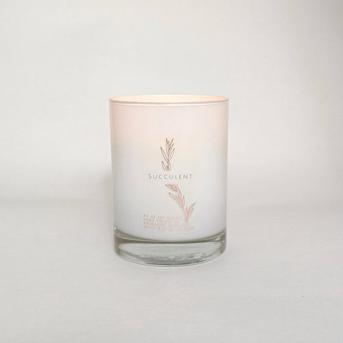 Succulent Wood Wick Candle