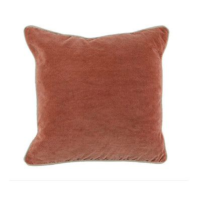 18x18 Terra Cotta Heirloom Velvet Pillow
