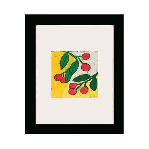 Berries+Leaves Art Print