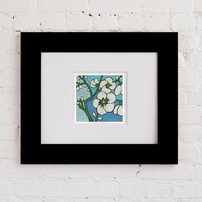 Turq Botanical Two Art Print