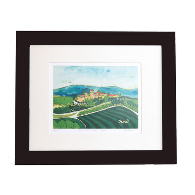 Hill Top Village Art Print