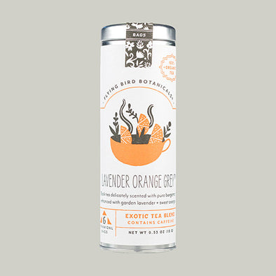 Lavender Orange Grey - 6 Tea Bag Tin