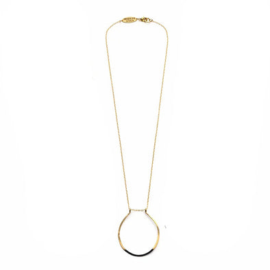 Mired Metal Circle Necklace