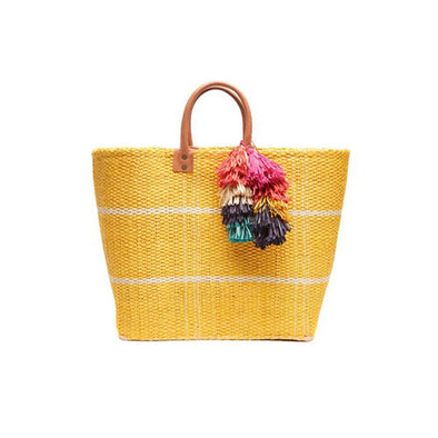 Belo Tassel Tote in Sunflower