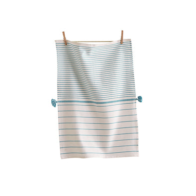 Aqua Beach Stripe Dishtowel