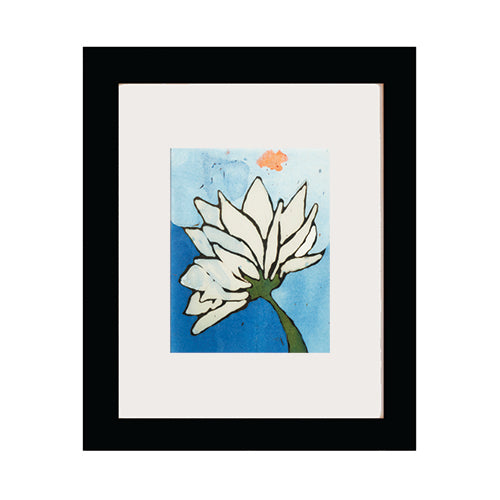 Flower on Blue Art Print