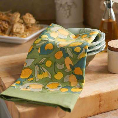 Yellow+Green Fruit Tea Towel