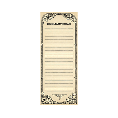 Brilliant Ideas Skinny Notepad
