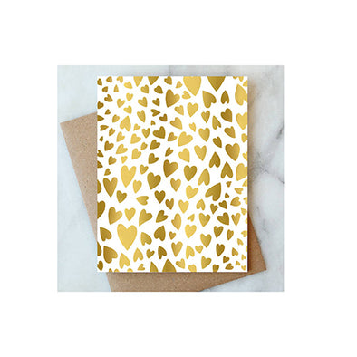 Gold Hearts Card