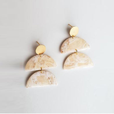 Cream Angel Earrings
