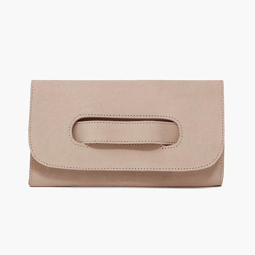 Mare Handle Clutch in Mauve