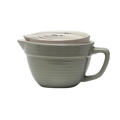 Grey Batter Bowl Measuring Cups